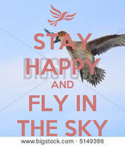 Poster: STAY HAPPY AND FLY IN THE SKY