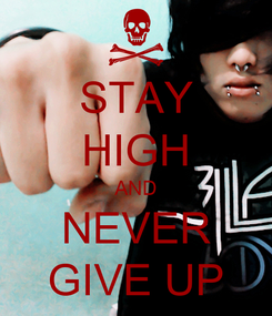 Poster: STAY HIGH AND NEVER GIVE UP