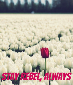 Poster:     STAY REBEL, ALWAYS
