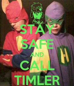 Poster: STAY SAFE AND CALL TIMLER