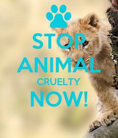Poster: STOP ANIMAL CRUELTY NOW!