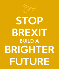 Poster: STOP BREXIT BUILD A BRIGHTER FUTURE