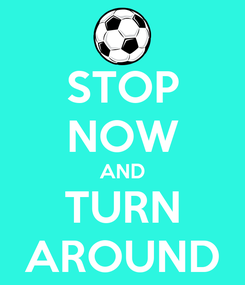 Poster: STOP NOW AND TURN AROUND