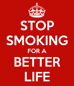 Poster: STOP SMOKING FOR A BETTER LIFE