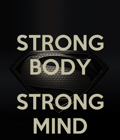 Poster: STRONG BODY  STRONG MIND