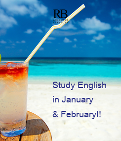 Poster: Study English  in January  & February!!