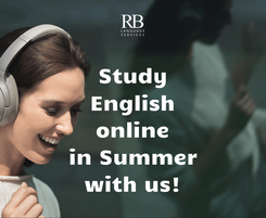 Poster: Study English online in Summer with us!