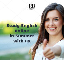 Poster: Study English                online                in Summer                with us.