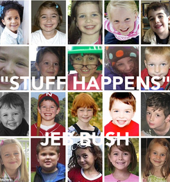 "Poster:  ""STUFF HAPPENS""  JEB BUSH"