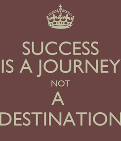 Poster: SUCCESS IS A JOURNEY NOT A  DESTINATION