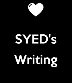 Poster:  SYED's  Writing
