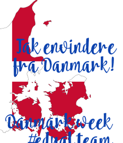 Poster:   Tak envindere  fra Danmark!   Danmark week  #edual team