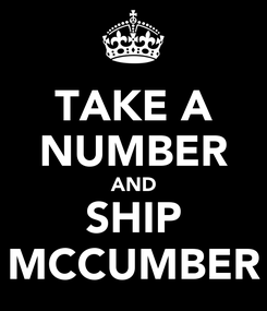 Poster: TAKE A NUMBER AND SHIP MCCUMBER