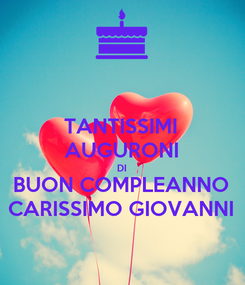 Poster: TANTISSIMI AUGURONI DI BUON COMPLEANNO CARISSIMO GIOVANNI