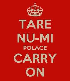 Poster: TARE NU-MI POLACE CARRY ON