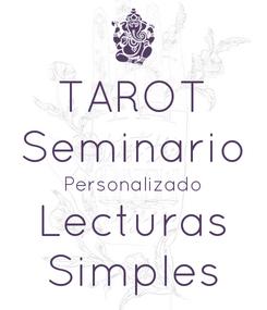 Poster: TAROT Seminario Personalizado Lecturas Simples