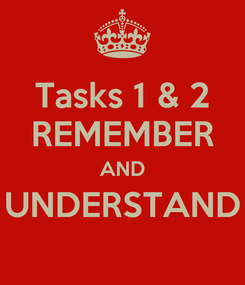 Poster: Tasks 1 & 2 REMEMBER AND UNDERSTAND