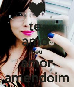 Poster: te  amo  meu  amor amendoim