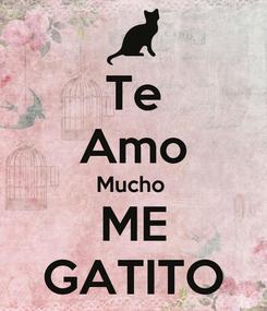 Poster: Te Amo Mucho  ME GATITO