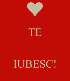 Poster: TE    IUBESC!