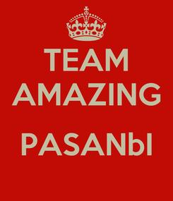 Poster: TEAM AMAZING  PASANbI
