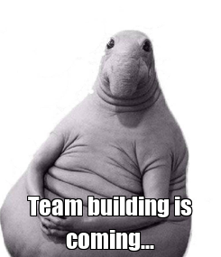 Poster:  Team building is coming...
