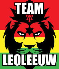 Poster: TEAM LEOLEEUW