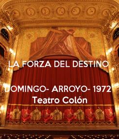 Poster:     Teatro Colón