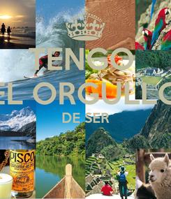 Poster: TENGO  EL ORGULLO DE SER
