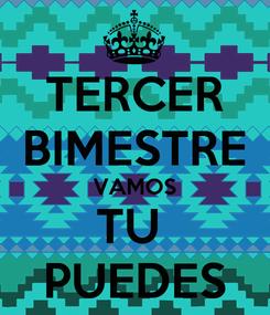 Poster: TERCER BIMESTRE VAMOS TU  PUEDES