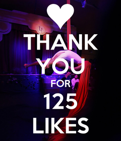 Poster: THANK YOU FOR 125 LIKES