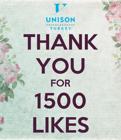 Poster: THANK YOU FOR 1500 LIKES