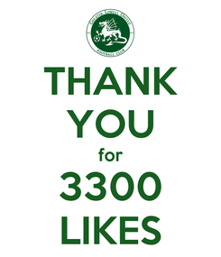 Poster: THANK YOU for 3300 LIKES