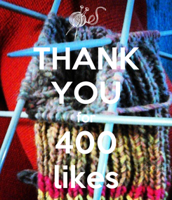 Poster: THANK YOU for 400 likes