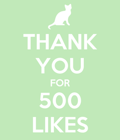 Poster: THANK YOU FOR 500 LIKES