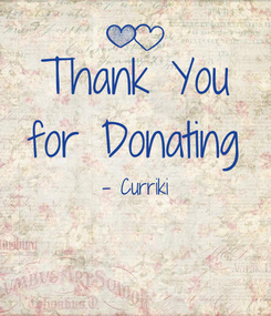 Poster: Thank You for Donating - Curriki