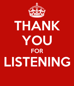 Poster: THANK YOU FOR LISTENING