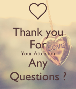 Poster: Thank you For Your Attention Any Questions ?