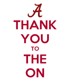 Poster: THANK YOU TO THE ON