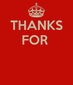 Poster: THANKS FOR