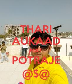 Poster: THARI AUKAAD MAT POTRAJE @$@