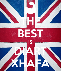 Poster: THE BEST IS DIART XHAFA