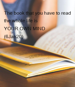 Poster: The book that you have to read
