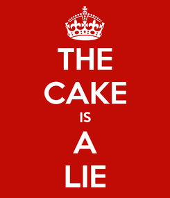 Poster: THE CAKE IS A LIE