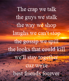 Poster: The crap we talk