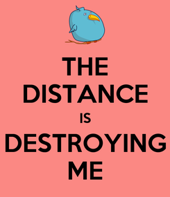Poster: THE DISTANCE IS DESTROYING ME