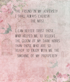 Poster: the friend in my adversity