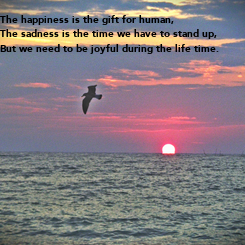 Poster: The happiness is the gift for human,