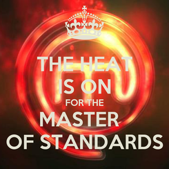 Poster: THE HEAT IS ON FOR THE MASTER   OF STANDARDS