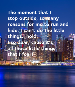 Poster: The moment that I